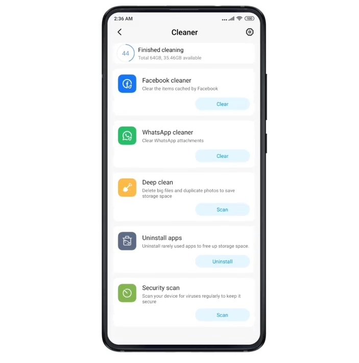 show you in miui 10 how to clean a trash