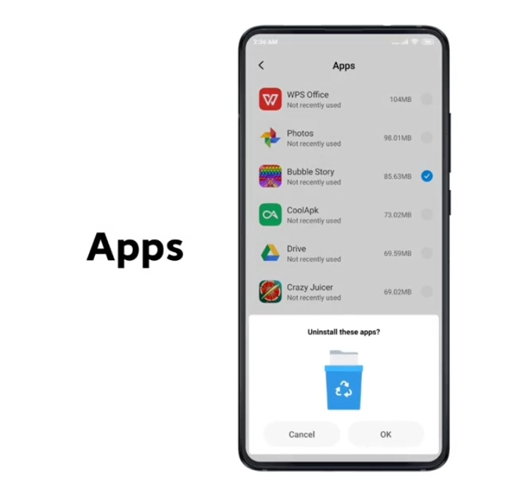 clean unwanted apps in xioami