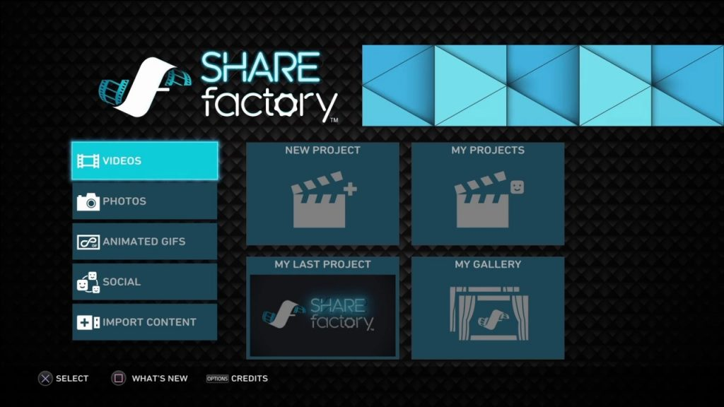 how to create a new projrct in sharefactory