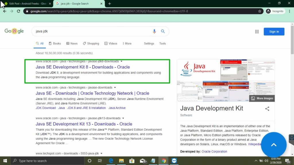 go to orcale.com to download java