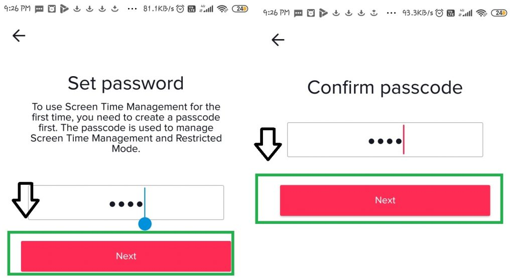 enter new password after that you confirm password