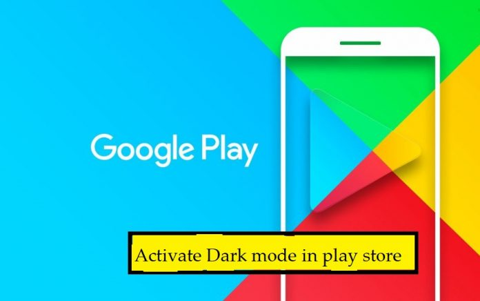 dark mode in playstore