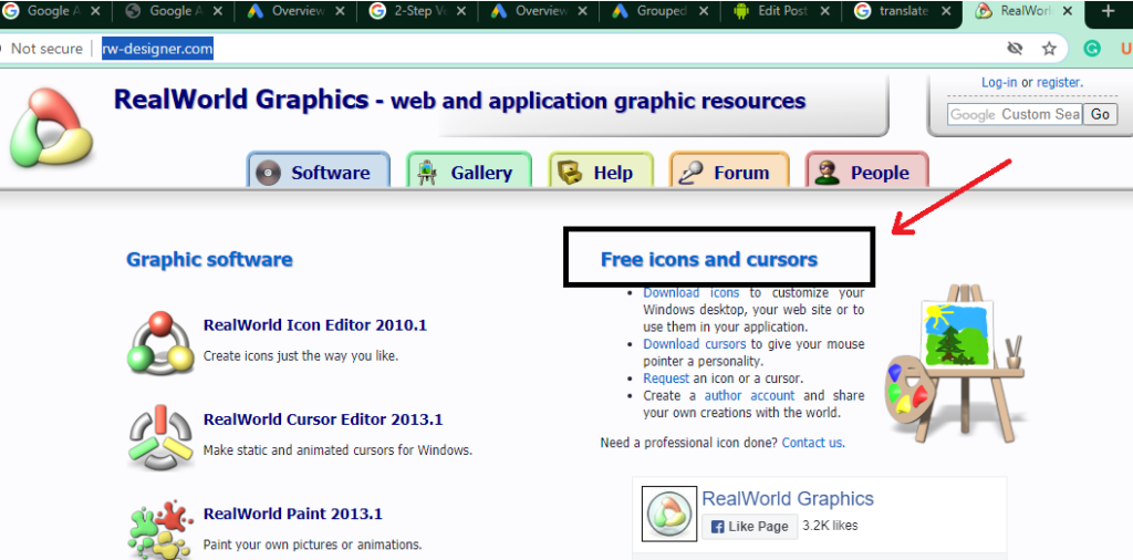 in this url you tap on free icons and cursor 7 Simple Steps to change your mouse cursor