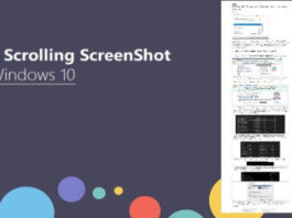 Scrolling Screenshot on windows 10