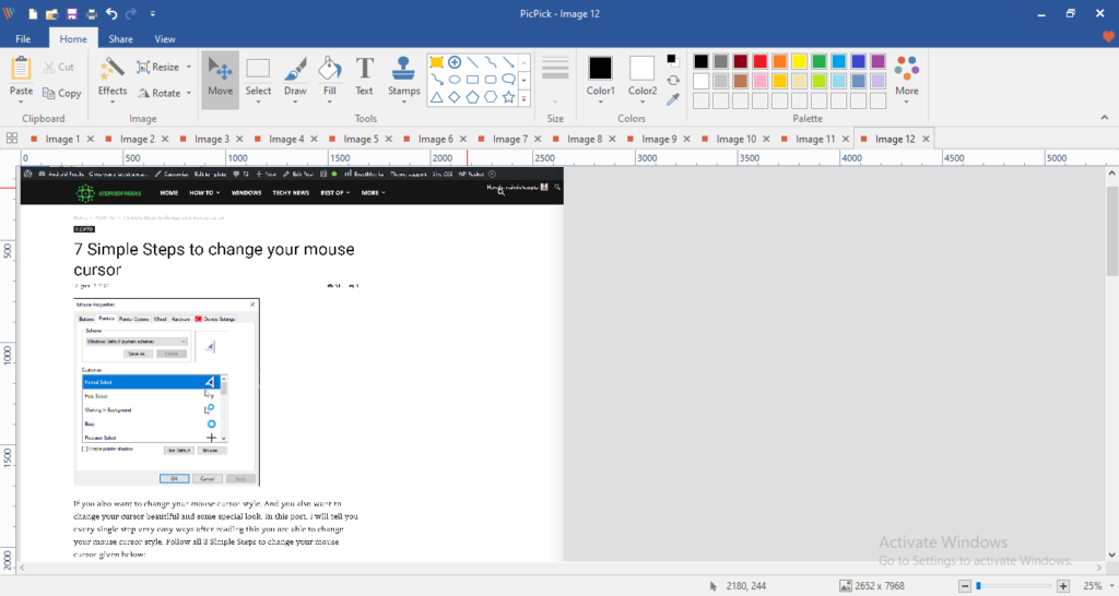 automatic comes screenshot on its editor