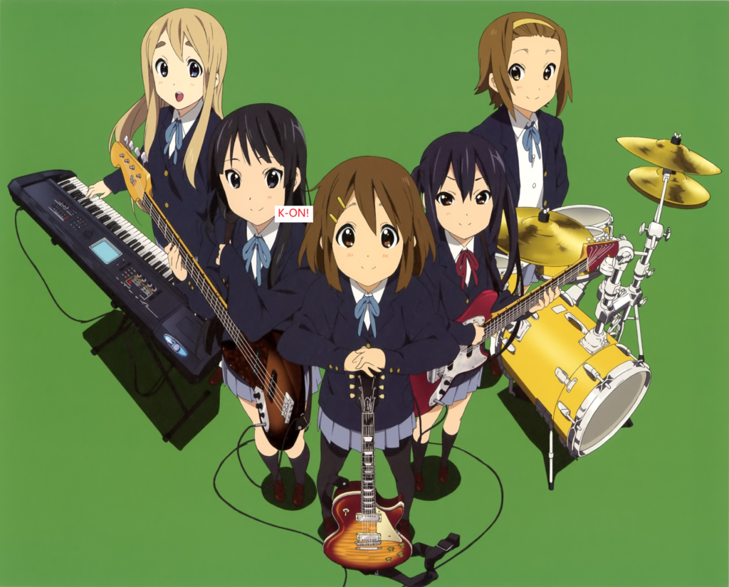 6: K-ON! rock and band anime on hulu