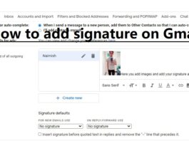 How to add signature on Gmail